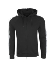 Emporio Armani Mens Black Taped Logo Hoody