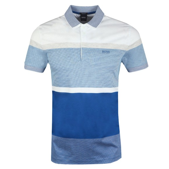BOSS Mens Blue Paddy 4 Polo Shirt