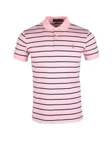 Polo Ralph Lauren Mens Blue Pima Cotton Stripe Polo Shirt