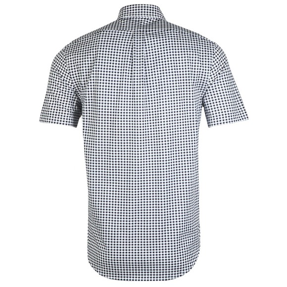Polo Ralph Lauren Mens Blue Check Short Sleeve Knit Oxford Shirt main image