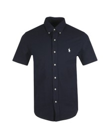 Polo Ralph Lauren Mens Blue Classic Short Sleeve Knitted Shirt