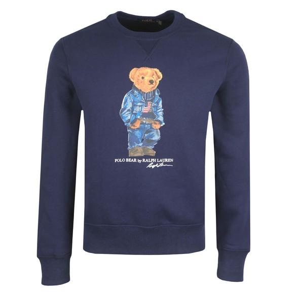 Polo Bear By Ralph Lauren Mens Blue Camo Bear Sweatshirt