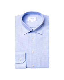 Eton Mens Blue Self Pattern Shirt