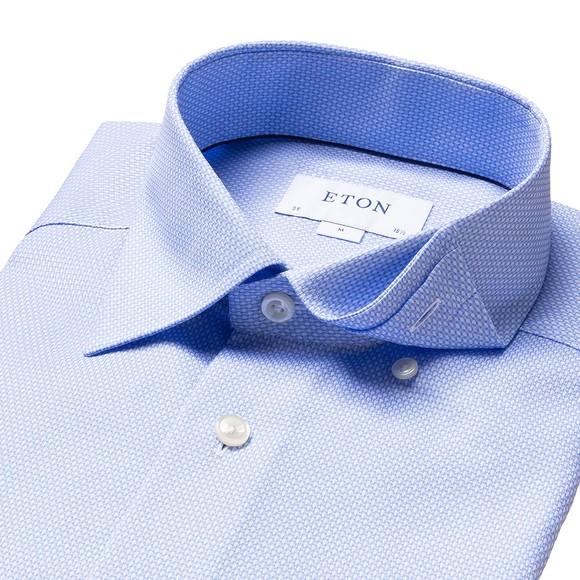 Eton Mens Blue Self Pattern Shirt main image