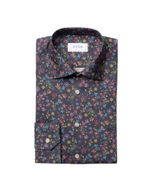 Eton Mens Blue Valley Of Flowers All Over Shirt