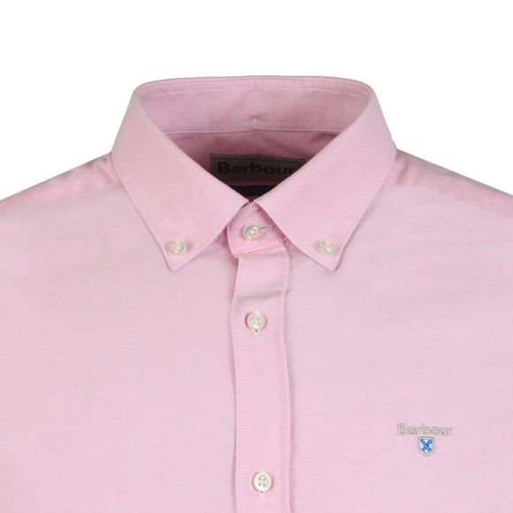 Barbour Lifestyle Mens Pink S/S Oxford 3 Shirt main image