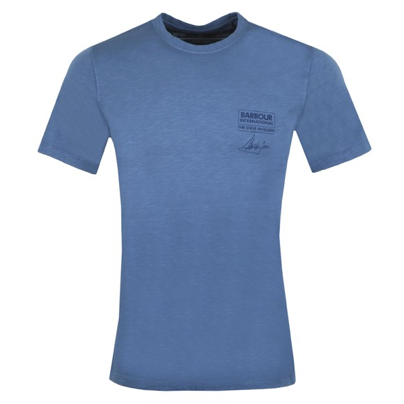Barbour Int. Steve McQueen Mens Blue Signature T-Shirt