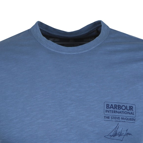 Barbour Int. Steve McQueen Mens Blue Signature T-Shirt main image