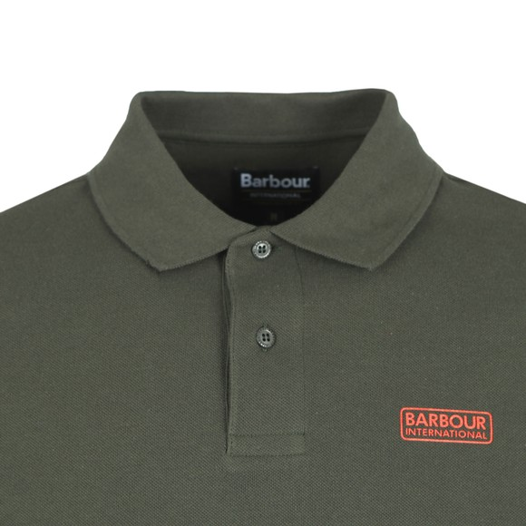 Barbour International Mens Green L/S Polo Shirt main image