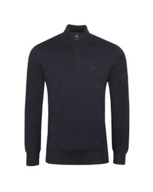 Barbour Lifestyle Mens Blue Cotton Half Zip Jumper