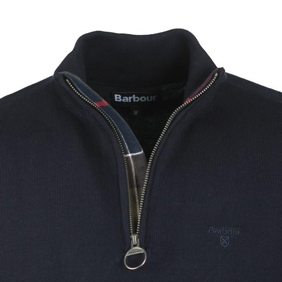 Barbour Lifestyle Mens Blue Cotton Half Zip Jumper main image