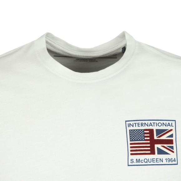 Barbour Int. Steve McQueen Mens White Fag T-Shirt main image
