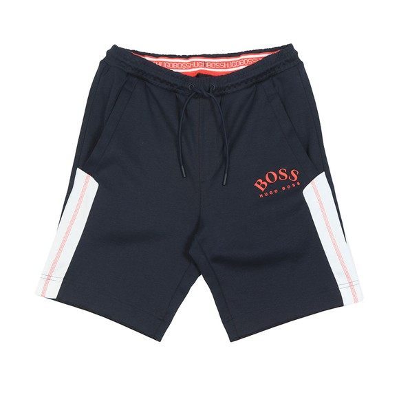 BOSS Mens Blue Athleisure Headlo Jersey Short