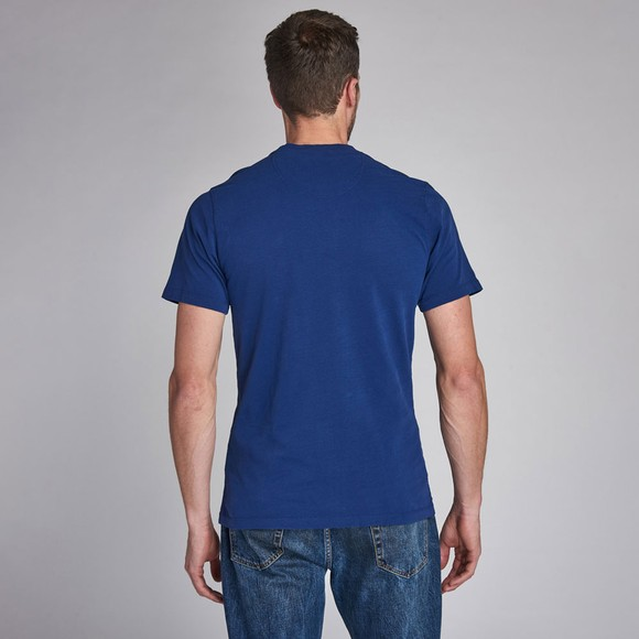 Barbour Int. Steve McQueen Mens Blue Life T-Shirt main image
