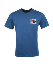 Barbour Int. Steve McQueen Mens Blue Fag T-Shirt