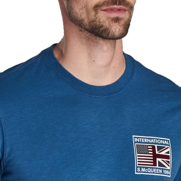 Barbour Int. Steve McQueen Mens Blue Fag T-Shirt main image