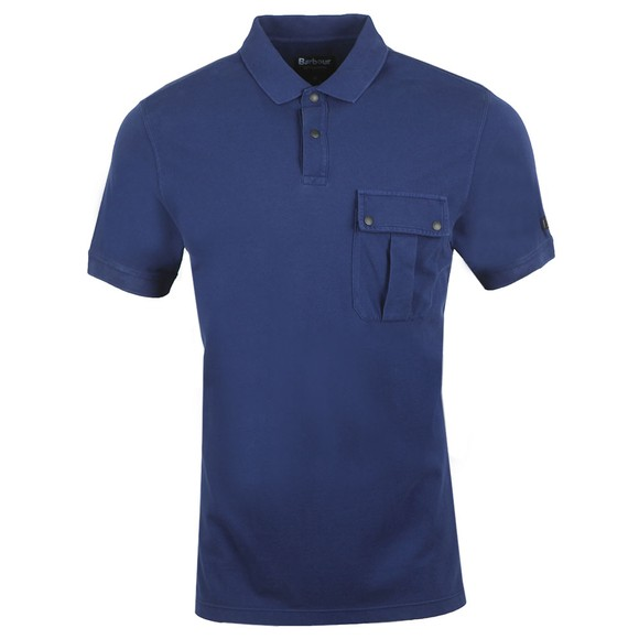 Barbour International Mens Blue Pocket Polo Shirt