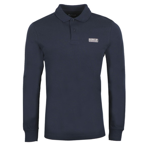 Barbour International Mens Blue L/S Polo Shirt