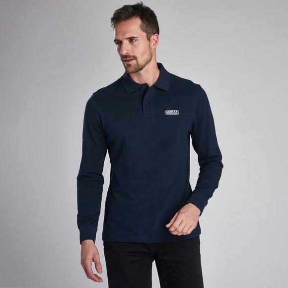 Barbour International Mens Blue L/S Polo Shirt
