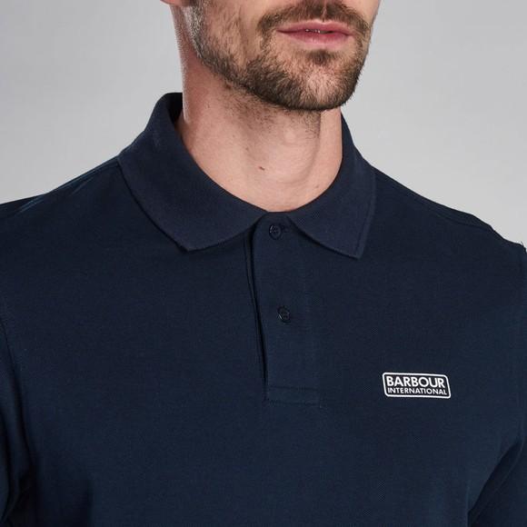 Barbour International Mens Blue L/S Polo Shirt main image