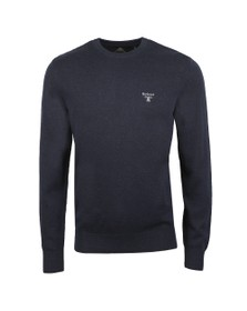 Barbour Beacon Mens Blue Cotton Crew Jumper