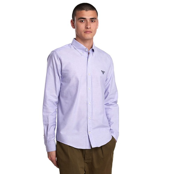 Barbour Beacon Mens Purple Oxford Shirt main image