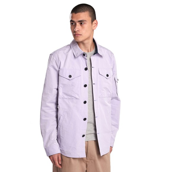 Barbour Beacon Mens Purple Askern Overshirt main image