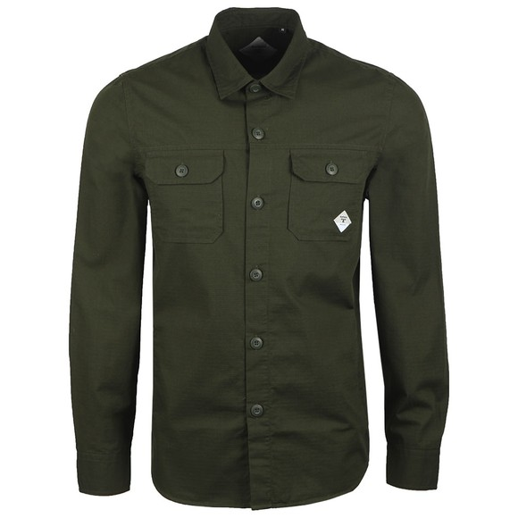 Barbour Beacon Mens Green Ripstop Shirt