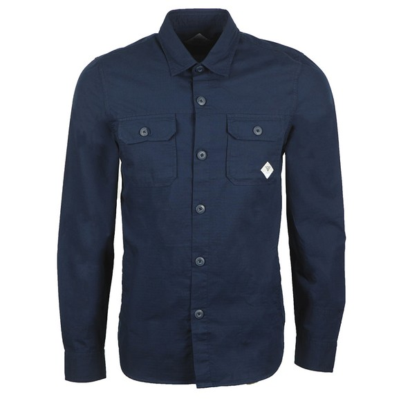 Barbour Beacon Mens Blue Ripstop Shirt