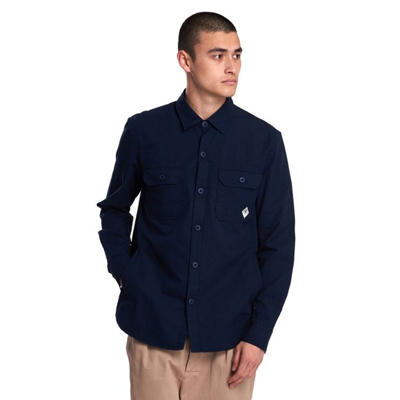 Barbour Beacon Mens Blue Ripstop Shirt main image