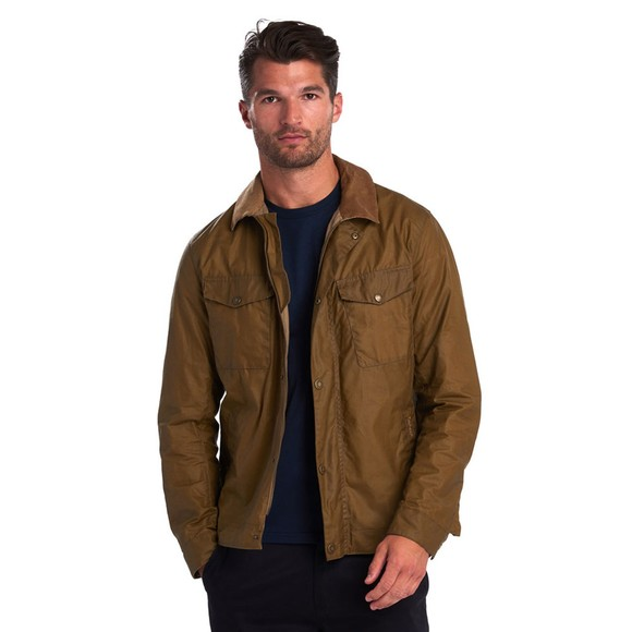 Barbour Lifestyle Mens Beige Trello Wax Jacket main image