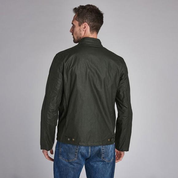 Barbour Int. Steve McQueen Mens Green Johnida Wax Jacket main image