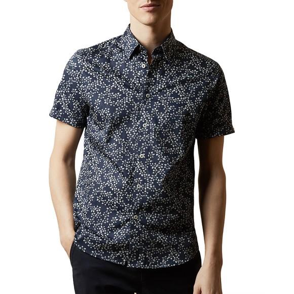 Ted Baker Mens Blue YEPYEP SS Floral Print Shirt