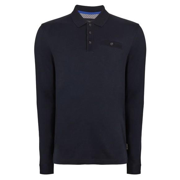 Ted Baker Mens Blue L/S Skelter Polo Shirt