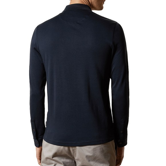 Ted Baker Mens Blue L/S Skelter Polo Shirt main image