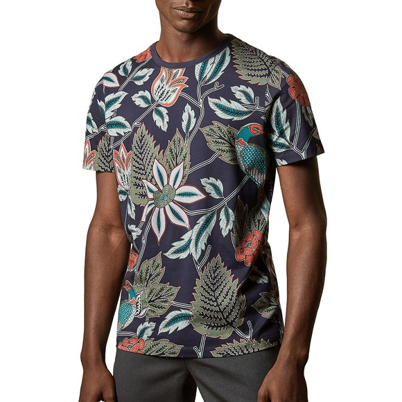Ted Baker Mens Blue ARCADE Bird T-Shirt