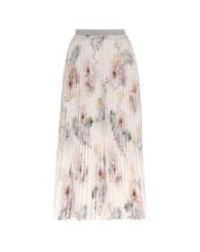 Ted Baker Womens Pink Maziiy Woodland Pleated Skirt