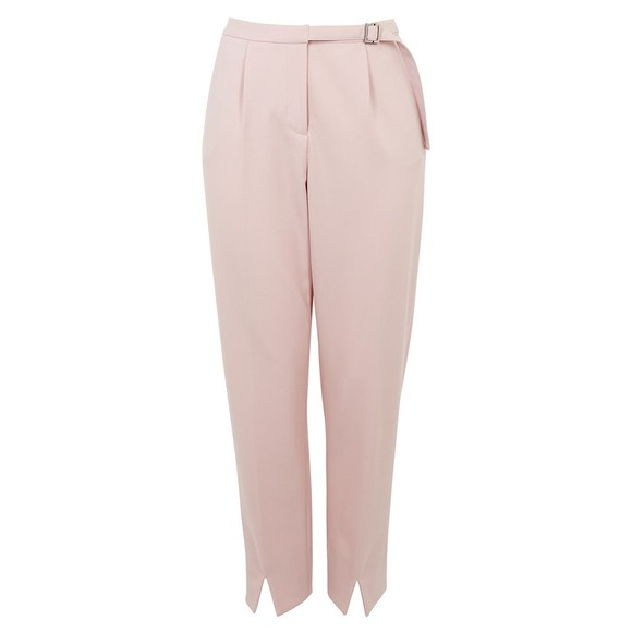 Ted Baker Womens Pink Starme Leather Belt Detail Tailored Trouser