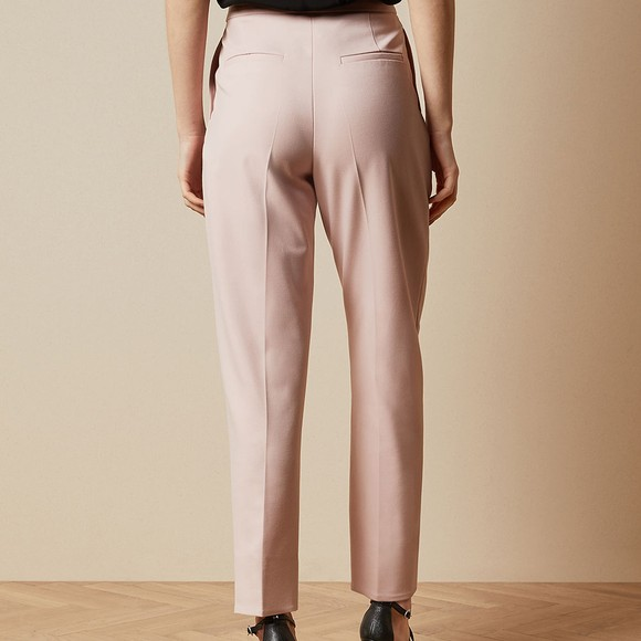 Ted Baker Womens Pink Starme Leather Belt Detail Tailored Trouser main image