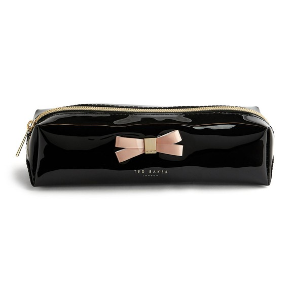 Ted Baker Womens Black Franai Bow Detail Make Up Bag
