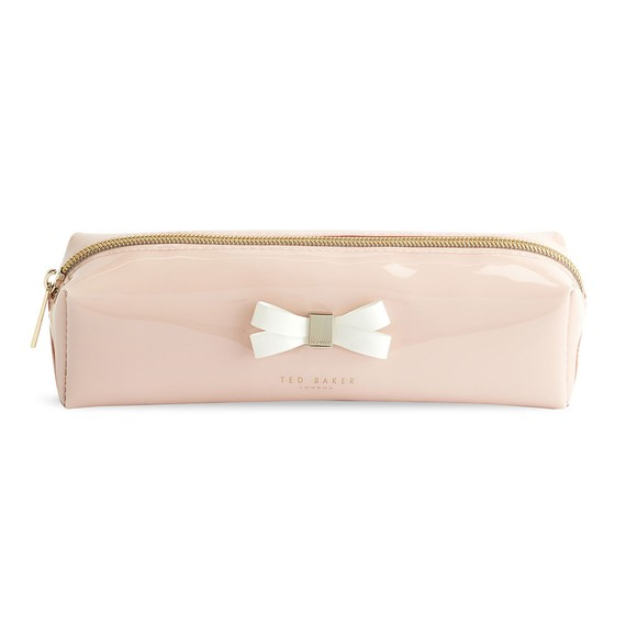 Ted Baker Womens Pink Franai Bow Detail Make Up Bag