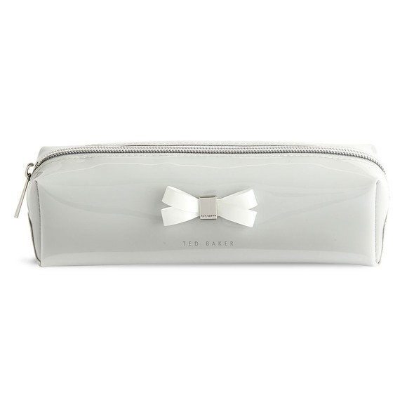 Ted Baker Womens Grey Franai Bow Detail Make Up Bag
