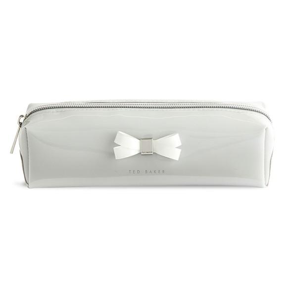 Ted Baker Womens Grey Franai Bow Detail Make Up Bag main image