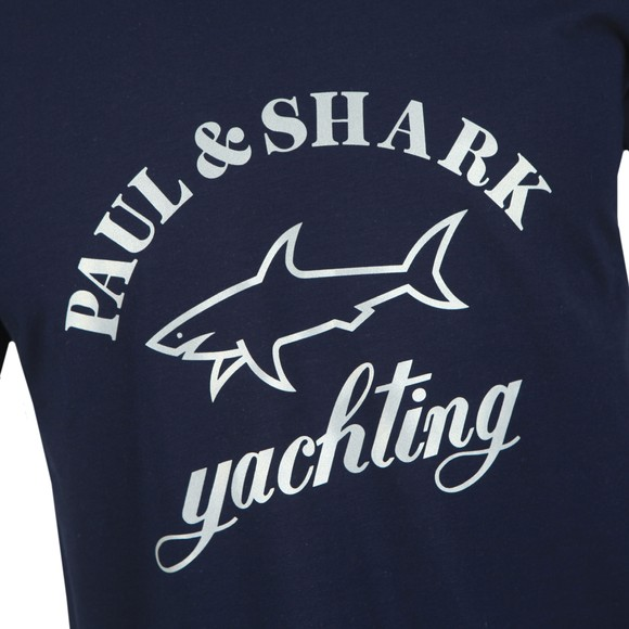 Paul & Shark Mens Blue Yachting Large Logo T-Shirt