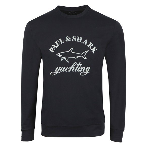 Paul & Shark Mens Blue Yachting Large Logo Sweatshirt