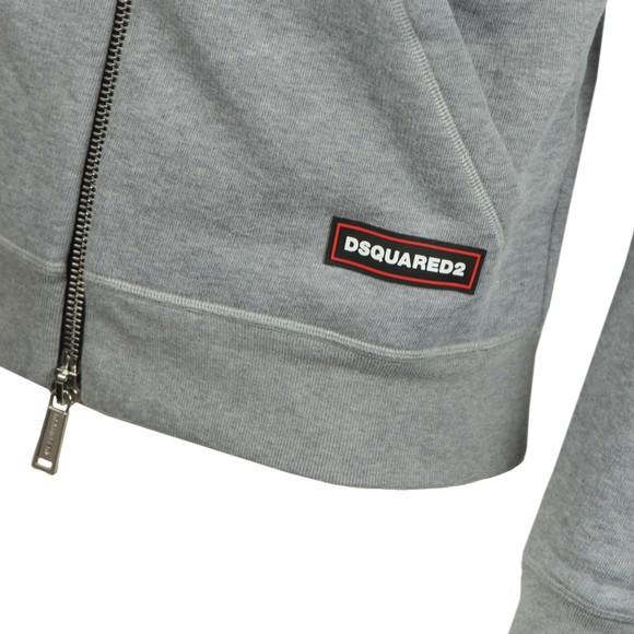 Dsquared2 Mens Grey Hip Logo Hoody