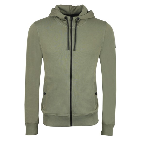 BOSS Mens Green Casual Zounds Hoody