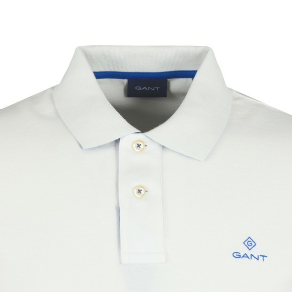 Gant Mens White Contrast Collar Rugger