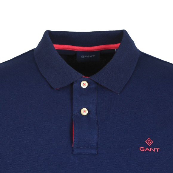 Gant Mens Blue Contrast Collar Rugger main image