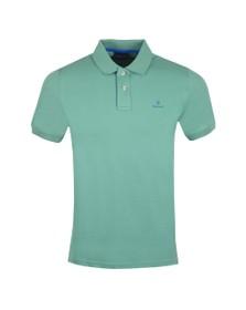 Gant Mens Green Contrast Collar Rugger